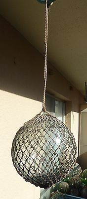 "JAPANESE VINTAGE GLASS FISHING FLOAT,  7.2"" Diameter Clear"