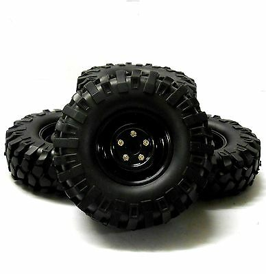P-002 1/10 Scale RC Off Road Rock Crawler Tread Tyre Black x 4 105mm
