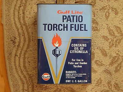 Vintage Gulf Lite One Gallon Patio Torch Fuel Can