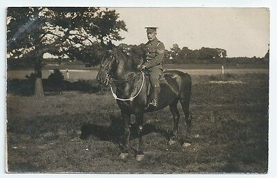 Pre-WW1 Royal Engineers Sergeant on Horse Used Real Photo Postcard 1911