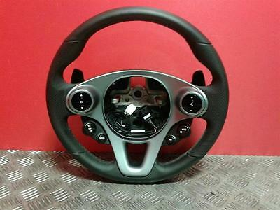 2015 Smart Fortwo Paddle Shift Multi Function Leather Steering Wheel A4534600003