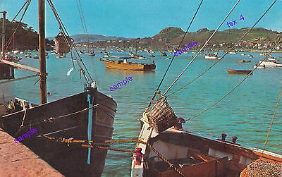 WALES RIVER CONWAY,1960s,OLD FISHING AND OTHER BOATS,BEAUTIFUL VIEW.