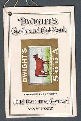 Original Antique 1897 New York Dwight's Cow-Brand Soda Advertising Brochure