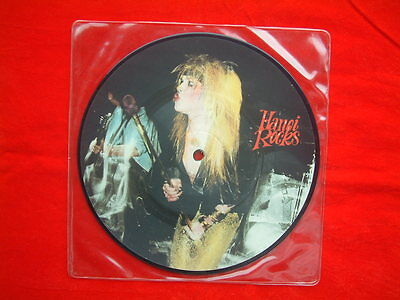 "Hanoi Rocks- Malibu Beach UK 7"" 45 Picture Disc single on Lick Records from 1983"