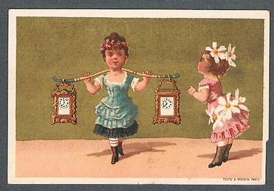 Original 1900's Le Boutillier & Co. New York Silver Jewelry Ad Trade Card