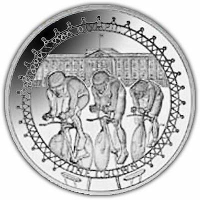 Isle Of Man 2010 Olympic Cyclists Crown Coin