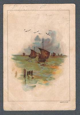 Original 1900's Minto Bros. Toronto Melagama Tea Advertising Trade Card
