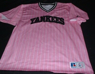 NY New York Yankees MLB USA Baseball XL Extra Large Mans Russell Athletic Jersey