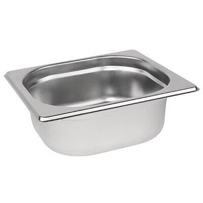 Stainless Steel 1/6 Gastronorm Container / Lid Bain Marie Gastro Food Pans
