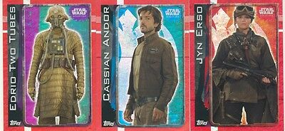 Topps Star Wars Rouge One 3 different cards 161, 171, 191 !