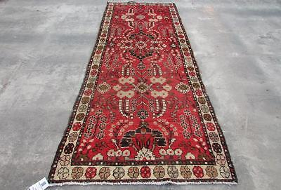 3'5X9'4 hand knotted tribal Persian Rug Vintage Woolen  Oriental Carpet  48