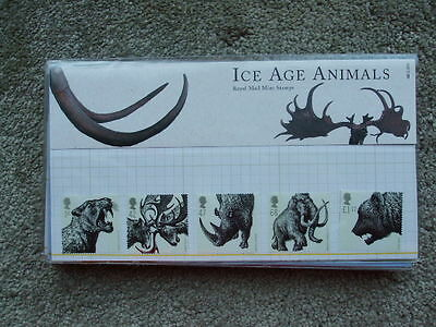 G.B Royal Mail Mint Stamps Presentation Pack Ice Age Animals 2006