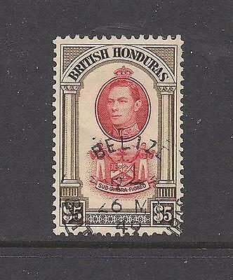 British Honduras 1938 $5 FU/VFU cat £55