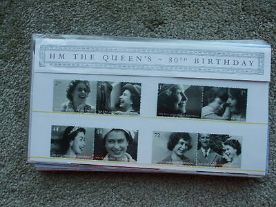 G.B Royal Mail Mint Stamps Presentation Pack Queens 80th Birthday 2006
