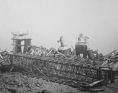 New 8x10 Photo- Destroyed buildings in France after the Battle of the Somme 1916