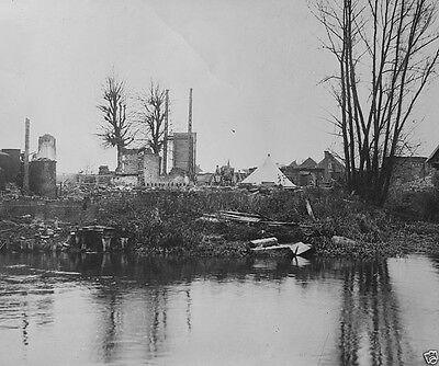 New 8x10 Photo- Damaged French town of Bethincourt after the Battle of the Somme