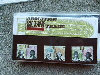 Royal Mail Mint Stamps Presentation Pack Abolition Of The Slave Trade 2007