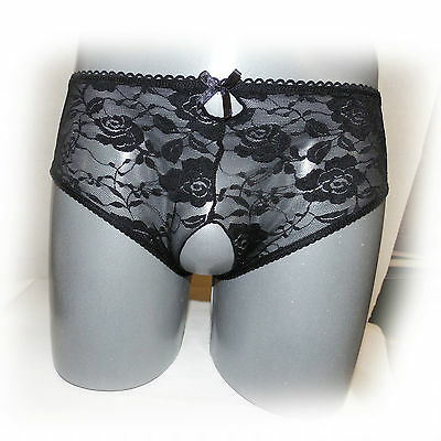 Sexy Crotchless Open Crotch Lace Thongs Ouvert 4XL (966)