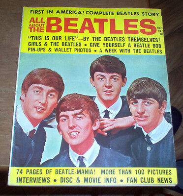 All About The Beatles Magazine 1964 Rare Photos Jane Asher Music 60's Vintage