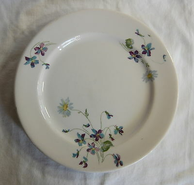 """Violets and Daisies, Syracuse China C B & Q R R Plate 9"""" Across"""