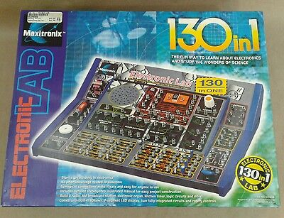 MAXITRONIX 130 in 1 Electronic Lab science kit