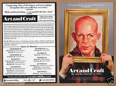 ART AND CRAFT movie Mark Landis forger documentary ad postcard promo card flyer