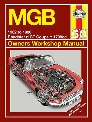 MGB Roadster MGBGT Haynes Manual Full COLOUR Limited Edition 4894 NEW