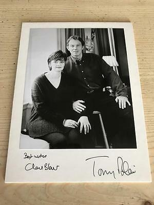 "Original Hand Signed Tony and Cherie Blair Photograph 6"" x 8"""