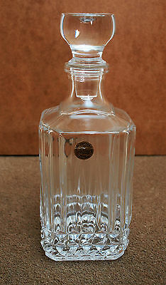 Beautiful Vintage French Square Decanter