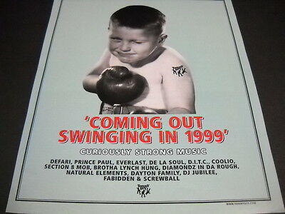 TOMMY BOY Rap and Hip Hop label 1998 PROMO AD Coming Out Swingin in 1999 MINT