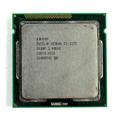 Intel Xeon E3-1275 3.40GHz 8M Quad Core Sandy Bridge CPU Processor SR00P LGA1155
