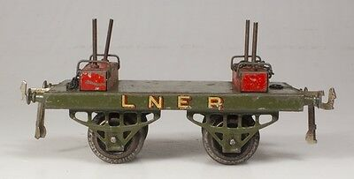 Hornby O Gauge No.1 LNER Lumber Wagon with Open Axle Guards