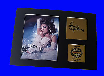 Madonna mounted signed autographed pre-print picture 12 x 8 in limited edition