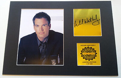 Michael Weather DiNozzo NCIS  mounted quality signed 12 x  8 in limited edition