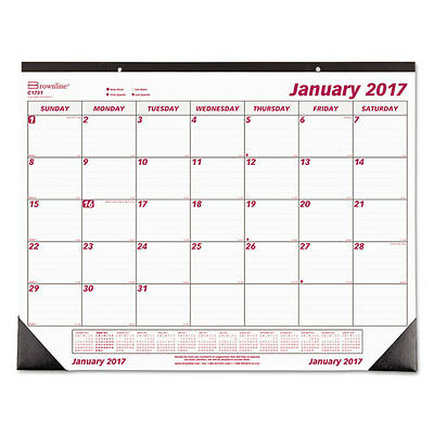 Rediform Monthly Deskpad Calendar, Chipboard, 22 x 17, 2017 C1731