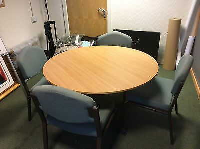 Beech Round table and 4 chairs