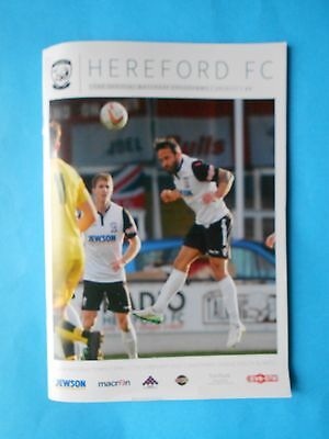 Hereford v Wimborne 11th February 2017 MINT cond