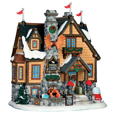 Moose Crest Lodge Lemax Christmas Village Illuminated Building - New For 2016