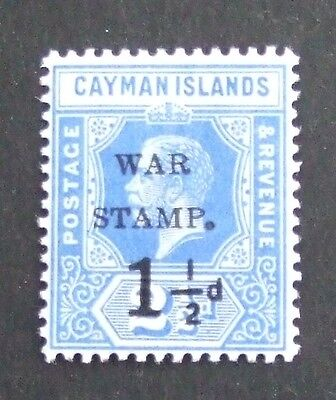 1917 Cayman Islands 1½d on 2½d war stamp with small letters