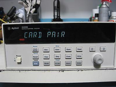 Hp Agilent Keysight 3499B Switch/control System With 44471A Gen Purpose Relay