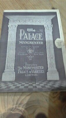 1920s The Palace Manchester -Programme