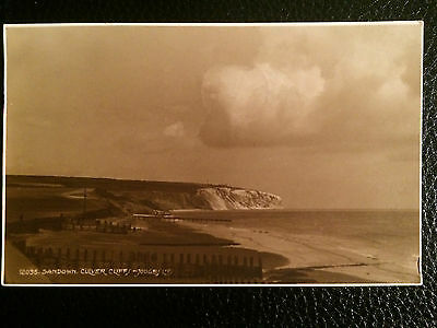 B&W TOPOGRAPHICAL POSTCARD SANDOWN CULVER CLIFF ISLE OF WIGHT JUDGES No 12035