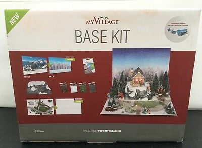 Lemax - 'Base Kit Inc. Backgrounds, Base, Snow Etc, Sticky Dots New In Packaging
