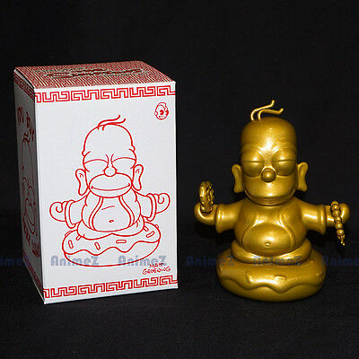 Kidrobot The Simpsons 3 Inch Gold Homer Buddha figure Dunny *UK SELLER*