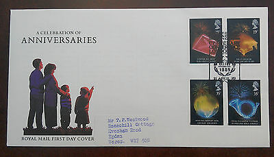 1989 Royal Mail Fdc - Anniversaries -Inter Parliamentary Union Conference London