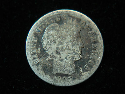 1907-O Barber Dime - Silver Coin - Better Date - Good - No Reserve