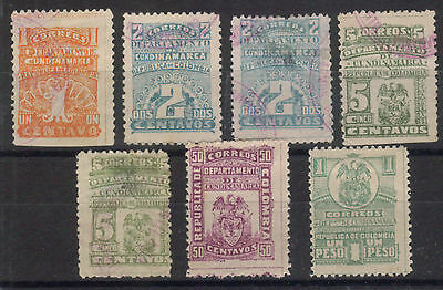 Colombia - Cundinamarca 1904 Issue - Lot of Mint & Used