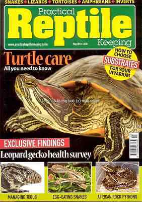 Practical Reptile May 2013 Turtle care Tegus egg eating Snakes Rock Pythons