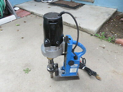Hougen magnetic drill hmd914 mag drill portable usa made look