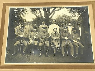 WWII Japanese Army Officer Group Portrait Photo